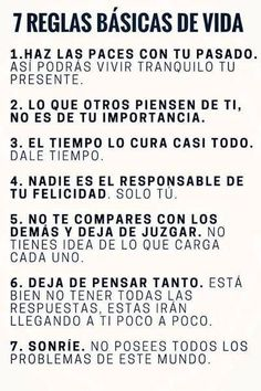 """7 reglas básicas de la vida... ( frases ) - Tap the link to shop on our official online store! You can also join our affiliate and/or rewards programs for FREE"