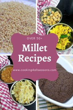 Over 50 Millet Recipes is a collection of Indian Millet recipes that can be cooked for different meals. Recipe For 4, Recipe Using, Jowar Recipes, Curry Side Dishes, Veg Thali, How To Make Fish, Millet Recipes, Easy Snacks For Kids, Dum Biryani