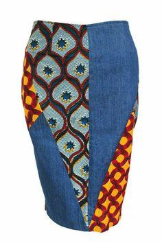 African Fashion Denim Skirt