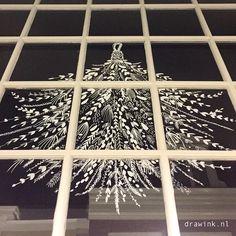 portfolio | drawink Under the mistletoe #raamtekening #kerst #winter #etalage #december #mistletoe White Pen, White Chalk, Chalkboard Decor, Xmas, Christmas Tree, Under The Mistletoe, Jingle Bell, Fig, December