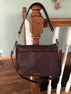 Vera Bradley Carson Large Bittersweet Chocolate Brown Leather Shoulder Bag   258 Chocolate Brown 24b6f995eac3c