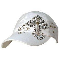5f3ad577dbb White Baseball Cap Hat W Rhinestone Studded Crosses Luxury Divas.  19.99  White Baseball Cap