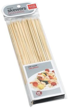 "Bamboo Skewers 100-Count by Good Cook. $4.33. Bradshaw #24451 100PK Bamboo Skewer. BRADSHAW INTERNATIONAL. Skewers, 10"" 100 count Single point bamboo skewers for many kitchen uses."