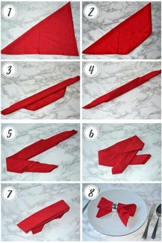 Napkin folding: 3 ideas for your Christmas table - Girl about townhouse . - Napkin folding: 3 ideas for your Christmas table – Girl about townhouse folding ideas cloth Napkin folding: 3 ideas for your Christmas table – Girl about townhouse Paper Napkin Folding, Christmas Napkin Folding, Christmas Napkins, Christmas Crafts, Christmas Christmas, Paper Napkins, Purple Christmas, Coastal Christmas, Christmas Napkin Rings