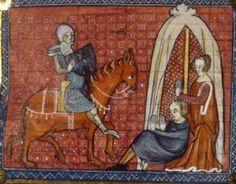 Manuscript: BNF Français 122  Folio: 36  Dating: 1344  From: Hainaut, Belgium  Holding Institution: Bibliothèque Nationale