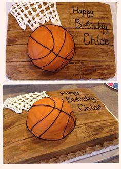 Basketball cake / court I made for a friend.