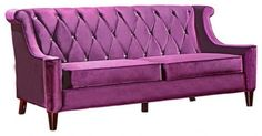 http://www.baidutama.com/comfortable-purple-sofas/ Comfortable Purple Sofas : Modern Purple Velvet Sofa With Crystal Buttons