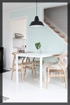 Peinture verte menthe salon scandinave ClemAroundThecorner