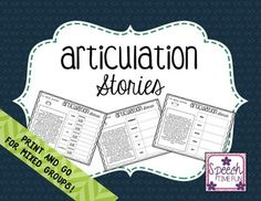 Not only is this resource no prep, but it is also able to be used for more than just articulation practice! A long list of sounds are targeted by the stories in this product, and there are a wealth of skills and concepts targeted, such as summarizing, sequencing, WH- questions, and more!