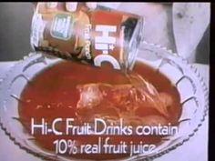 1978 Hi-C Fruit Punch TV commercial - YouTube