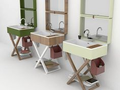 My Bag, the new wash basin system by Olympia Ceramica