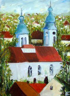 Jovanka Bekan - ulje na platnu - Plavi tornjevi  ---  E-mail Jovanke Bekan: jovanka.bekan@gmail.com