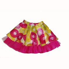 Fusta din bumbac imprimat si volan de tul Girl Outfits, Velvet, Satin, Elegant, Skirts, Cotton, Clothes, Women, Fashion