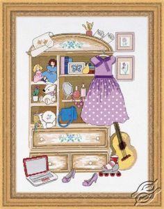 Girl's Locker - Cross Stitch Craft Kits by RIOLIS - 1373