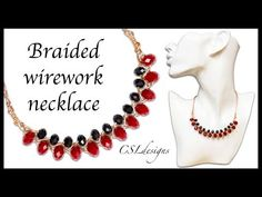 Outside braided wirework necklace - YouTube