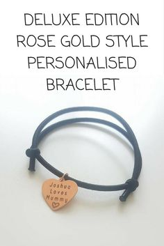 Our beautiful bracelets can be personalised with any name, wording and/or date. #personalised #bracelet #keepsake #rosegoldbracelet #deluxe