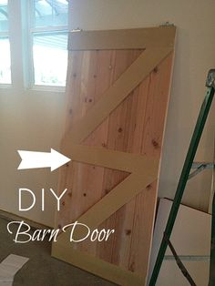 I want a barn door :) A sliding one for the bathroom ;) This fits my budget & need to make awesome things :D