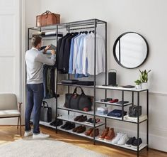 10 Attractive Open Closet Concepts For Advanced House Closet Bedroom, Bedroom Decor, Mens Room Decor, Baby Bedroom, Modern Bedroom, Ideas Armario, Dressing Design, Men Closet, Shoe Closet