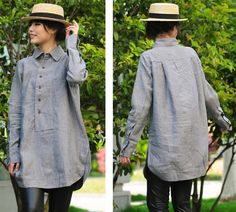 The Artists Tailor Loose Fitting Blouse/ 18 Colors/ Any Size via Etsy