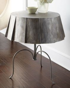 Metal Skirt Side Table at Horchow. $479