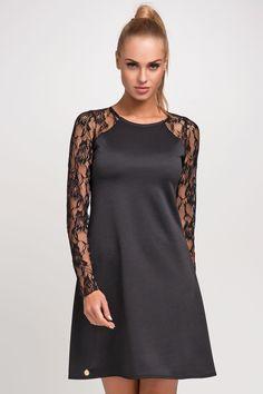 Makadamia M254 Sukienka - czarny