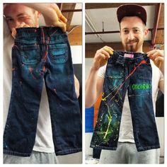 Acrylics on Baby pants ! /by Olicorno
