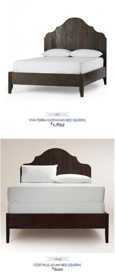 COPY CAT CHIC FIND: Viva Terra Gustavian Bed VS Cost Plus Julian Bed. This bed is gorgeous and this site is GOLD!
