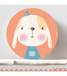 Cuadro infantil Perro guau Nursery Wall Decor, Nursery Art, Animal Drawings, Cute Drawings, Baby Club, Woodland Nursery, Card Templates, Baby Pictures, Pottery Art