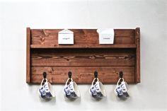 Mug à café présentoir étagère à épices bois par CratesAndPine