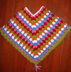 Hello my friend, I've finished today the baby poncho for my niece Clara who's six months old…and I'll put here in this post the pattern if someone is interested in crochetin… Crochet Poncho Patterns, Crochet Scarves, Crochet Shawl, Knit Crochet, Crochet Vests, Crochet Edgings, Shawl Patterns, Crochet Motif, Crochet For Kids