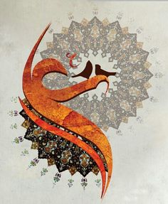 Even the little birds sing to the Exalted One. Arabic Calligraphy Art, Arabic Art, Caligraphy, Karbala Photography, Mola Ali, Islamic Paintings, Turkish Art, Islamic Wallpaper, Imam Ali