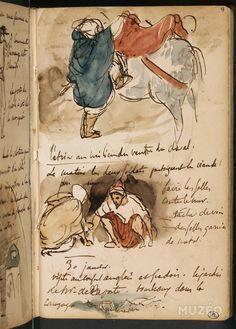 delacroix drawing from trips africa Voyage Sketchbook, Travel Sketchbook, Artist Sketchbook, William Turner, Romanticism Artists, Drawing Sketches, Drawings, Sketching, Learn Art