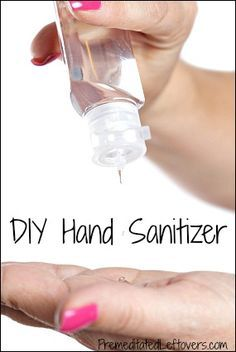 DIY Hand Sanitizer-1 teaspoon Witch Hazel 1 Cup Aloe Vera gel 3 drops peppermint oil 3 drops Tea Tree oil