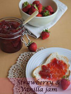 Strawberry & vanilla jam from Little Apple Tree blog.