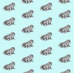 Blue Walrus Fabric - Walrus By Taraput - Baby Blue Walrus Nursery Decor Cotton Fabric By The Yard With Spoonflower Baby Fabric, Satin Fabric, Custom Fabric, Baby Walrus, Textile Manufacturing, Kona Cotton, Cool Wallpaper, Spoonflower, Cotton Canvas