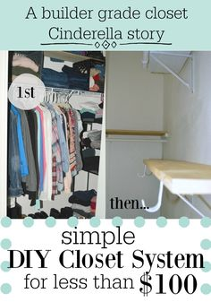Closet challenge part II: how to add shelves to increase storage. #organize  #diyproject