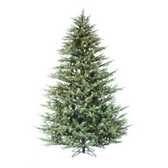 9 grayson fir staylit artificial christmas tree clear lights