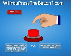 Oh no! Whatever shall I do? *sneakily presses button 100 times*