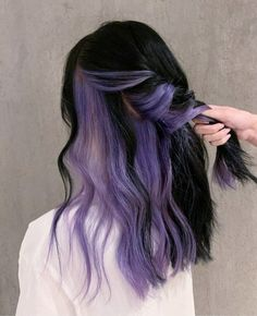 Under Hair Dye, Under Hair Color, Hidden Hair Color, Two Color Hair, Hair Color Underneath, Korean Hair Color, Hair Color Streaks, Hair Dye Colors, Hair Color For Black Hair