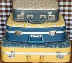 Vintage Suitcase trio