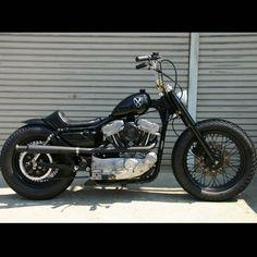 #Custom #Harley #BlockHead #Sportster #Bobber #HarleyDavidson #Chopper #American #Motorcycle #DreamBike