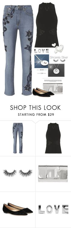 """""""Love Her Madly"""" by jacque-reid ❤ liked on Polyvore featuring 3.1 Phillip Lim, Jonathan Simkhai, Velour Lashes, Whiteley, Perrin and Jimmy Choo"""