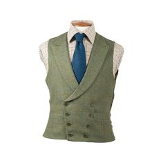 I want this - but even more low cut ; Double Breasted Waistcoat, Tweed Waistcoat, Tweed Suits, Men's Suits, Suit Fashion, Fashion Looks, Restaurant Uniforms, Tweed Run, Waist Coat
