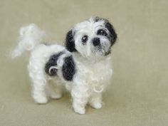 Needle felted Shih Tzu. You can have a custom made one of these to represent Echo. I wonder how the felter would go with Echo's long hair. It would only cost you about $300 or so.