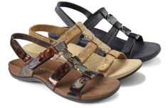 4f3a0a209a04e Amber by Vionic features arch support and four adjustable Velcro straps!  The Right Shoe · New Spring Sandals 2016