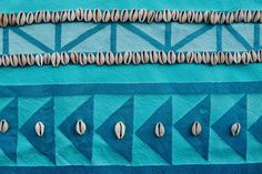 @bareandrare painted rug series detail #shell #cowrie #tapestry #textile