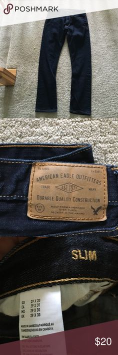 American Eagle Men's Jeans NWOT!!! never worn American eagle men's jeans. Style: slim size: 29x30. American Eagle Outfitters Jeans Slim