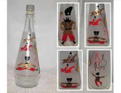 Vintage Russian Arrow Vodka Liquor Decanter Bottle by PuppyLuckArt