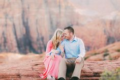 Fun Engagement Pictures, Utah Wedding Photographer | St George Red Rock Engagement Photos {Shanna John} | http://www.gideonphoto.com/blog