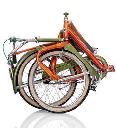 Duemila folding bike - folded - Italy